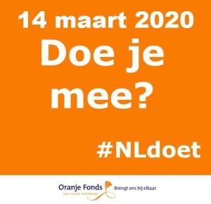 14 maart NL-Doet, handjes gezocht. Wie helpt mee?