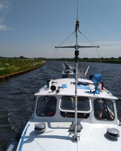 Onze nieuwe sleepboot Kiek Uut (3) in de vaart